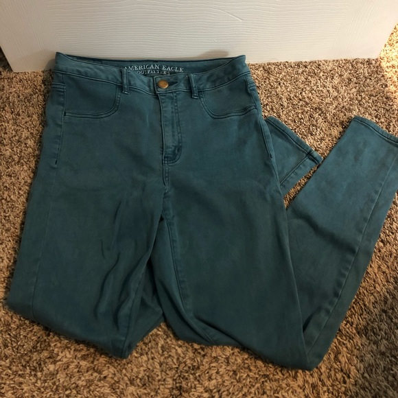 American Eagle Outfitters Denim - American Eagle Green High Rise Jeggings